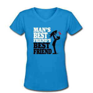 Man's Best Friend's Best Friend T-shirt design by Yaroon's Cartoons, auteur van de Dogs Don't Whisper cartoons.