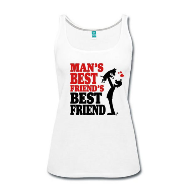 Man's Best Friend's Best Friend T-shirt design by Yaroon's Cartoons, author of the Dogs Don't Whisper cartoons.